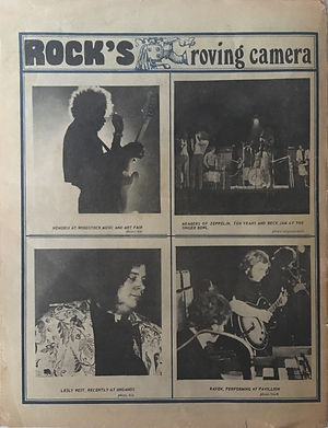 jimi hendrix newspaper 69/rock 9/15/69  rock's roving camera