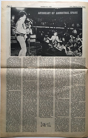 jimi hendrix newspaper 1968/los angeles free press october 25-31 1968