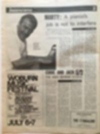 jimi hendrix newspaper/melody maker july 6 1968/AD woburn music festival july 6&7 1968