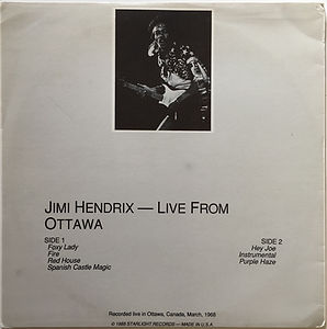 jimi hendrix vinyl bootleg/live from ottawa starlight records 1988