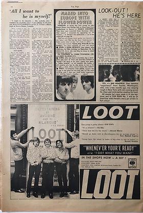jimi hendrix collector newspapers/top pops N°6/jimi next week