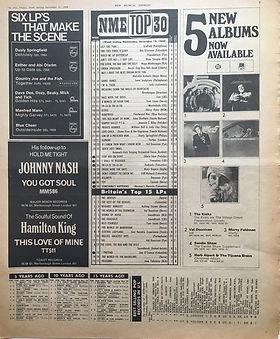 jimi hendrix newspaper 1968/ new musical express december 21 1968