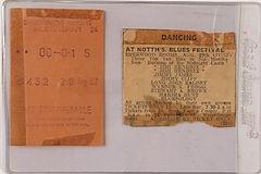 jimi hendrix rotily memorabilia/ticket blues festival 29/8/1967