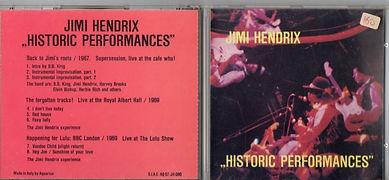 jimi hendrix bootlegs cds/historic performances/1991 aquarius