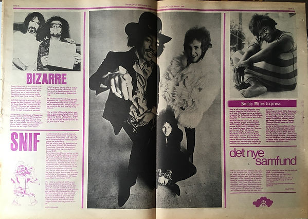 jimi henrix newpaper1968/superlove december 1968