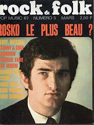 jimi hendrix rotily magazine/rock & folk mars 1967