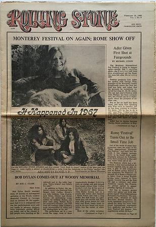 jimi hendrix collector newspaper/rolling stone 24/2/68