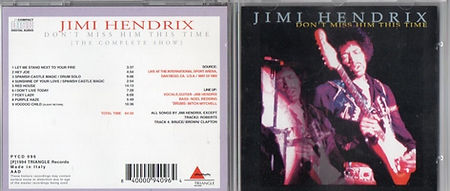 jimi hendrix cd bootleg 1969/d'ont miss him this times