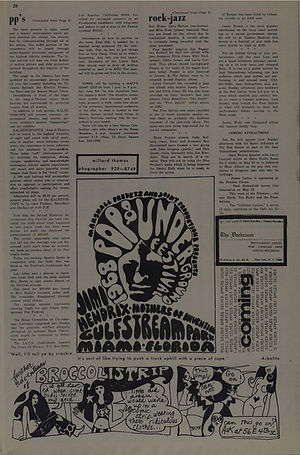 jimi hendrix newspaper/the east village other/may 17 1968