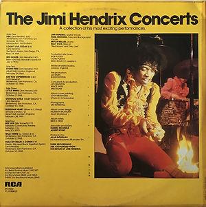 jimi hendrix vinyls album / the jimi hendrix concerts / rca  italy