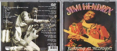 jimi hendrix cd & dvd bootlegs/burning at midnight