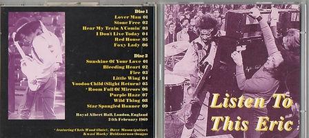 jimi hendrix booleg cd 1969/listen to this eric