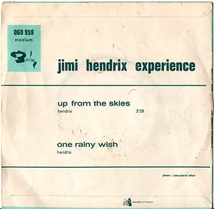 jimi hendrix rotily singles/up from the skies france 68