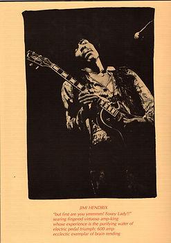jimi hendrix memorabilia 1969/ woodstock