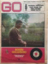 jimi hendrix newspaper/go march 29 1968/ad concert april 5 1968 symphony hall/