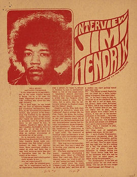 jimi hendrix newspaper/warren forest sun/detroit usa september  1967