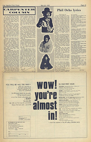 jimi hendrix newspaper 1969/los angeles free press may 23 1969