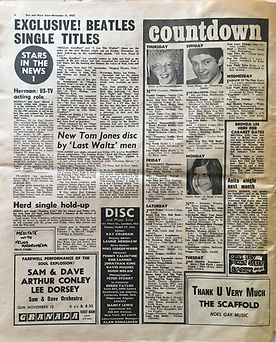 jimi hendrix collector newspaper/disc music echo 11/11/67 /countdown jimi hendrix packtage/11/11/67