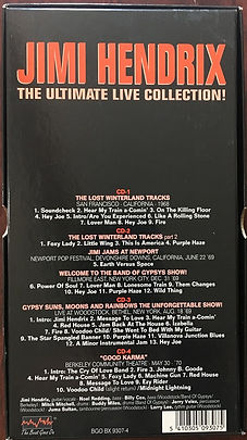 jimi hendrix box/cds/LPs/Dvd/the ultimate live collection