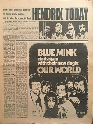 jimi hendrix newspaper 1970 / melody maker : sept. 5, 1970 / article : hendrix today