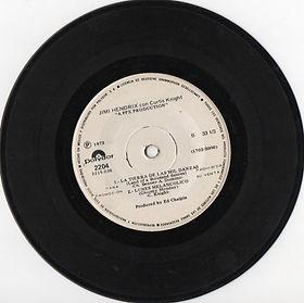 jimi hendrix ep vinyls/side 2 /la tierra de las mil danzas/ 1972
