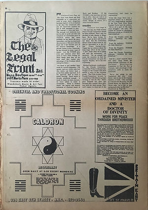 jimi hendrix newspaper 1969/the east village other august 13 1969/ woodstock