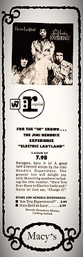 jii hendrix newspaper 1969/ad : electric ladyland 1968