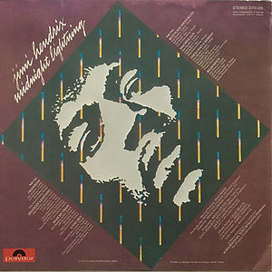 jimi hendrix vinyl album midnight lightning promotional copy / 1975 germany