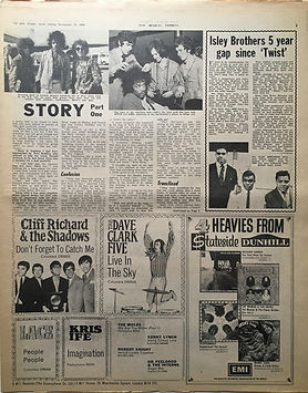 jimi hendrix newspaper 1968/new musical express 16/11/68 jimi hendrix story