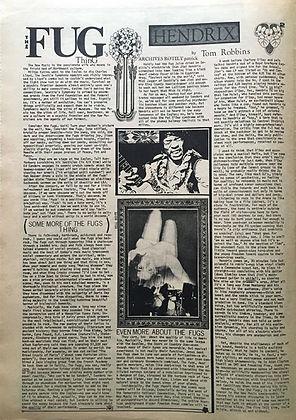 jimi hendrix newspaper collector/helix february 15 1968