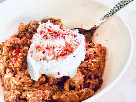 Raspberry Red Velvet Oatmeal