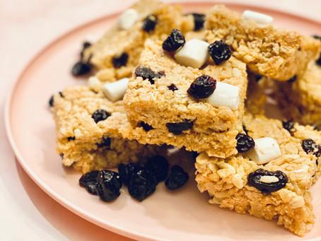 Vegan PB & Cherry Rice Treats