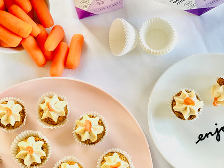 Raw Collagen Carrot Cupcakes