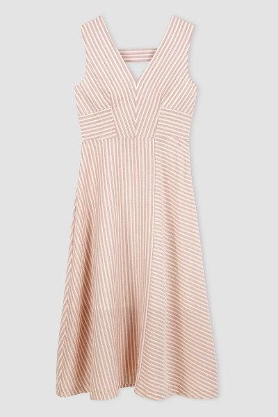 Triipudega suvine kleit