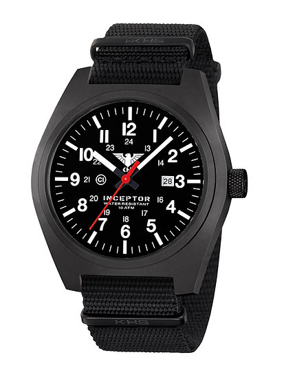KHS INCEPTOR STEEL WITH NATO BAND BLACK