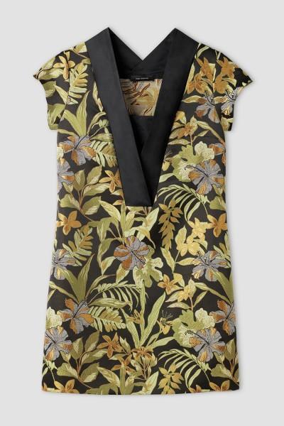 V-kaelusega pidulik kleit