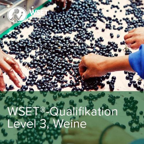 WSET-Qualifikation Level 3, Weine