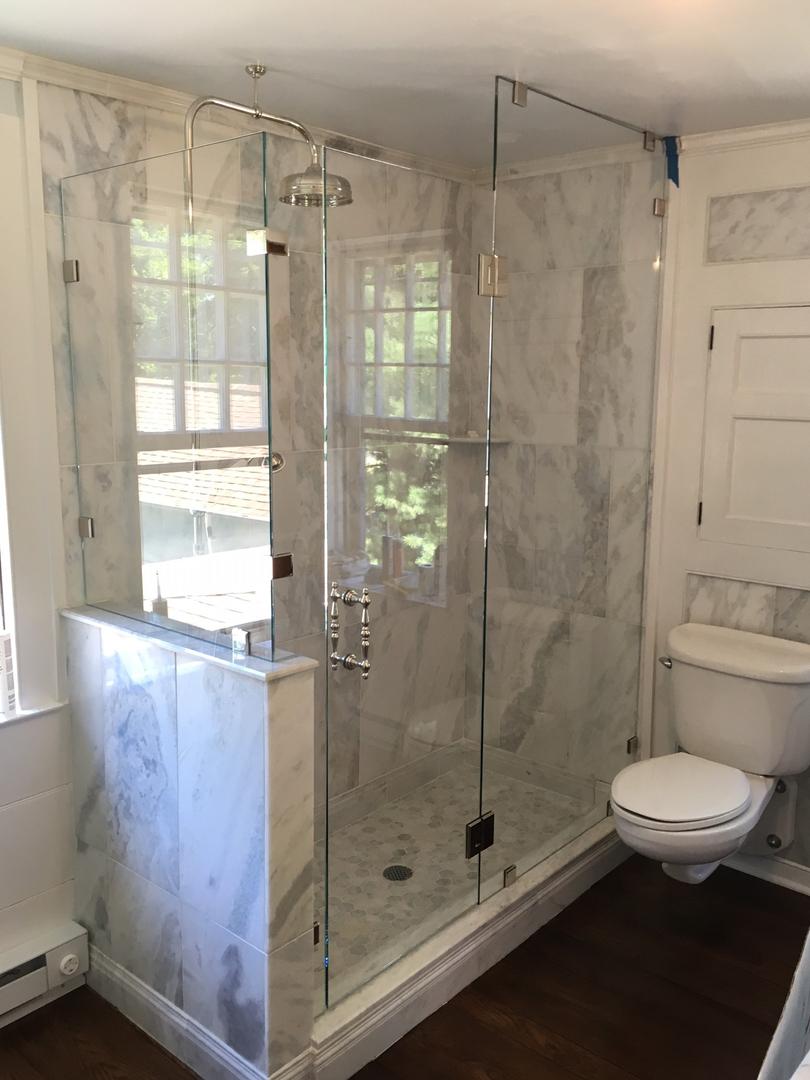 side piece shower