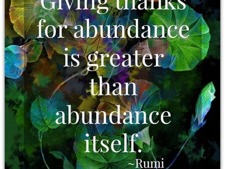 Your Infinite Abundance Of Gratitude