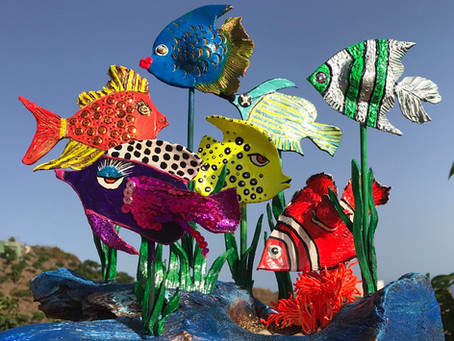 It's art! Funky Fishes