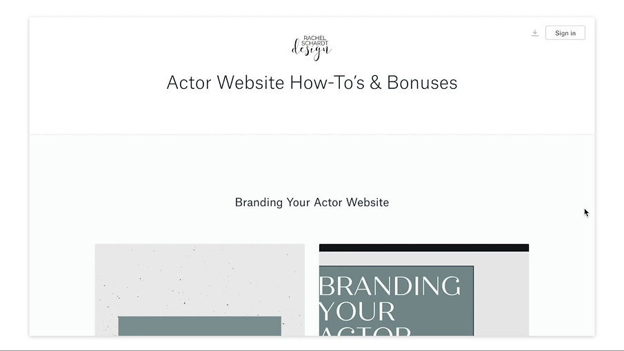 Actor Website Template How-To's