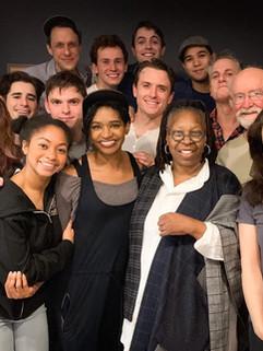 The cast meets Whoopie Goldberg! (Promot