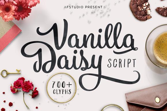 Vanilla Daisy рукописный шрифт