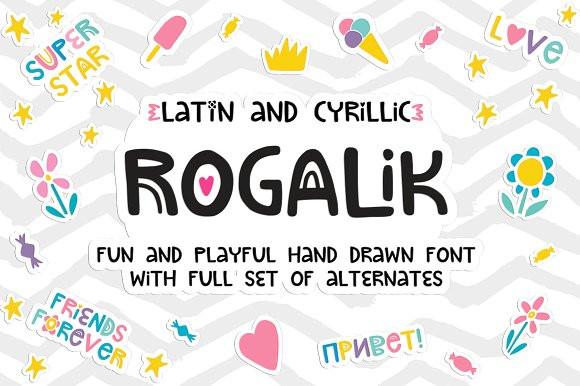 Кириллический шрифт Rogalik