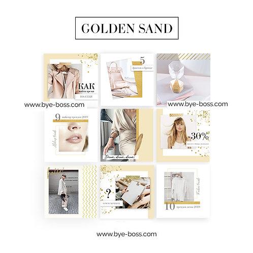 Инстаграм шаблоны GOLDEN SAND