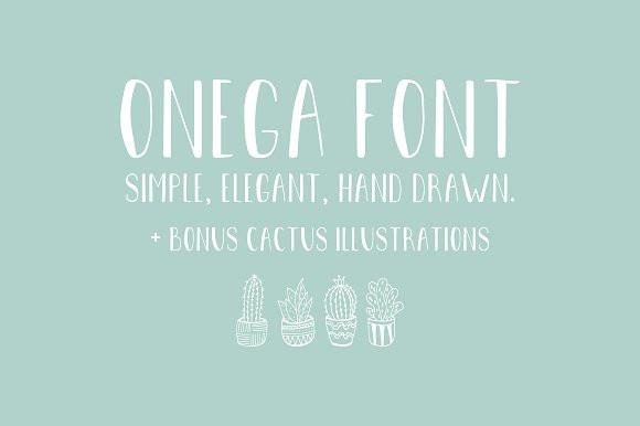 Кириллический шрифт Onega