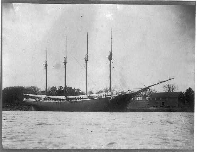 1890 George E Walcott 4 masted Schooner.