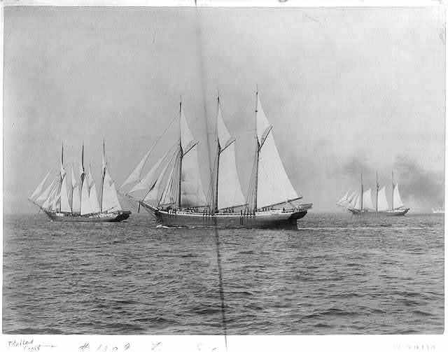 Four 3 masted schoonoers 1899