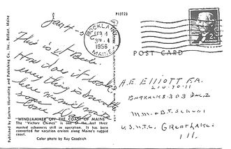 1956 Postcard of Victory Chimes