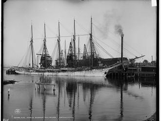 Five-masted schooner, Paul Palmer, Ports
